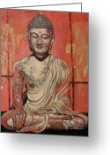 Buddha Art Greeting Cards - Awakening Greeting Card by Tom Roderick