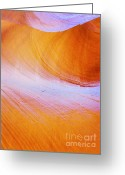 Underground Greeting Cards - Awe-inspiring Antelope Canyon Greeting Card by Christine Till