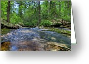 Commission Photo Greeting Cards - Awosting Falls I Greeting Card by David Hahn