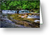 Commission Photo Greeting Cards - Awosting Falls II Greeting Card by David Hahn