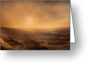 National Digital Art Greeting Cards - Axe Edge Greeting Card by Andy Astbury