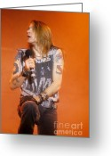 Rose Greeting Cards - Axl Rose Greeting Card by David Plastik