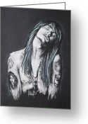 Axl Rose Greeting Cards - Axl Rose Greeting Card by Melanie D