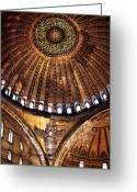 Holy Wisdom Greeting Cards - Aya Sofya Greeting Card by John Rizzuto
