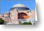 Aya Sofya Greeting Cards - Ayasofya Byzantine Landmark Greeting Card by Artur Bogacki