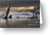 Dusk Greeting Cards - Ayrmer Cove Greeting Card by Richard Garvey-Williams