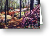 Most Greeting Cards - Azalea Forest Greeting Card by David Lloyd Glover