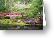 Nobody  Greeting Cards - Azalea Heaven Greeting Card by Eggers   Photography