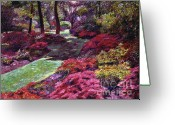 Most Greeting Cards - Azalea Park Greeting Card by David Lloyd Glover