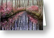 River Pastels Greeting Cards - Azalea River Greeting Card by Susan Jenkins