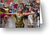 Archangel Greeting Cards - Aztec Dancer - San Miguel de Allende Greeting Card by Craig Lovell