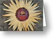 Sheild Greeting Cards - Aztec Industry  Greeting Card by Vanessa Williams