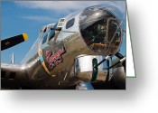 Military Photo Greeting Cards - B-17 Flying Fortress Greeting Card by Adam Romanowicz