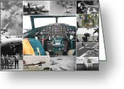 Eto Greeting Cards - B-17 Flying Fortress Collage Greeting Card by Don Struke