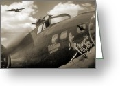 Gunship Greeting Cards - B - 17 Memphis Belle Greeting Card by Mike McGlothlen