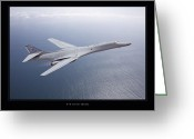 Military Artwork Greeting Cards - B-1B Lancer Greeting Card by Larry McManus