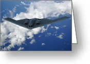 Bombers Greeting Cards - B-2 Spirit Greeting Card by Stocktrek Images