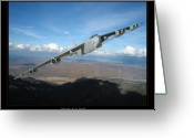Military Artwork Greeting Cards - B-52 Buff Greeting Card by Larry McManus