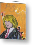 Rolling Stones Mixed Media Greeting Cards - B is for Bastard Greeting Card by Mike  Mitch