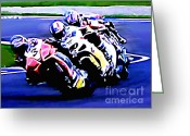 Motogp Greeting Cards - B10 Greeting Card by Tom Griffithe