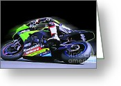 Motogp Greeting Cards - B11 Greeting Card by Tom Griffithe