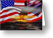 Whiteman Photo Greeting Cards - B2 Nuclear power Greeting Card by Lamyl Hammoudi
