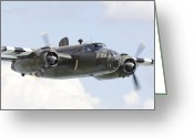 Usaf Greeting Cards - B25 - Portrait Greeting Card by Pat Speirs