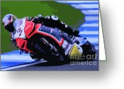 Motogp Greeting Cards - B3 Greeting Card by Tom Griffithe