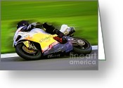 Motogp Greeting Cards - B8 Greeting Card by Tom Griffithe