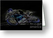 Motogp Greeting Cards - B9 Greeting Card by Tom Griffithe