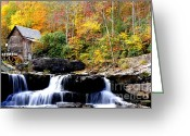 Glade Mill Greeting Cards - Babcock State Park Greeting Card by Thomas R Fletcher