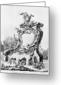 1750s Greeting Cards - Babel: Fountain Greeting Card by Granger