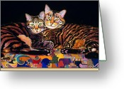Imaginary Realism Greeting Cards - Baby and Critter Greeting Card by Bob Coonts