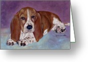 Originals Pastels Greeting Cards - Baby B. Greeting Card by Pat Saunders-White