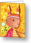 Adorable Bunny Greeting Cards - Baby Bunny Greeting Card by Sonja Mengkowski