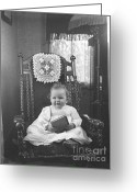 Historic Furniture Greeting Cards - Baby can Read Greeting Card by Jan Faul