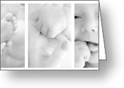 Newborn Greeting Cards - Baby details Greeting Card by Jaroslaw Grudzinski