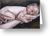 Day Greeting Cards - Baby Greeting Card by Ilse Kleyn