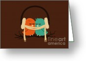 Caring Greeting Cards - Baby it is cold outside Greeting Card by Budi Satria Kwan