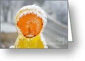 Snow Scenes Greeting Cards - Baby its cold outside Greeting Card by Christine Till