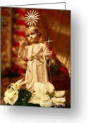 Sacred Photo Greeting Cards - Baby Jesus Greeting Card by Gaspar Avila