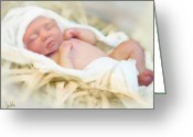 Spiritual Sculpture Greeting Cards - Baby Jesus Greeting Card by Jennifer Hickey