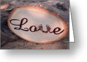 Gift Pyrography Greeting Cards - Baby Love Greeting Card by Dakota Sage
