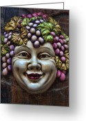 Chin Greeting Cards - Bacchus God of Wine Greeting Card by David Smith