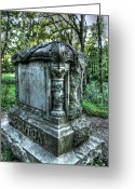 Creepy Pastels Greeting Cards - Bachelors Grove Fulton Tomb Greeting Card by Jackie Novak