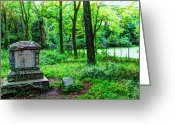 Creepy Pastels Greeting Cards - Bachelors Grove Greeting Card by Jackie Novak