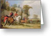Side Saddle Greeting Cards - Bachelors Hall - The Meet Greeting Card by Francis Calcraft Turner