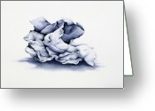 Monotone Painting Greeting Cards - Back To Basics Greeting Card by Christina Meeusen