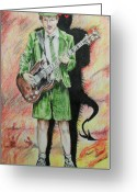 Acdc Greeting Cards - Back to Hell Greeting Card by Alan Hogan