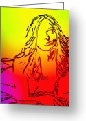 Curves Greeting Cards - Back to the 70s Greeting Card by Stefan Kuhn